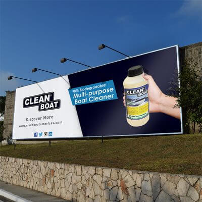 Clean Boat America on billboard