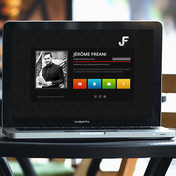 Jérôme Freani Resume Website