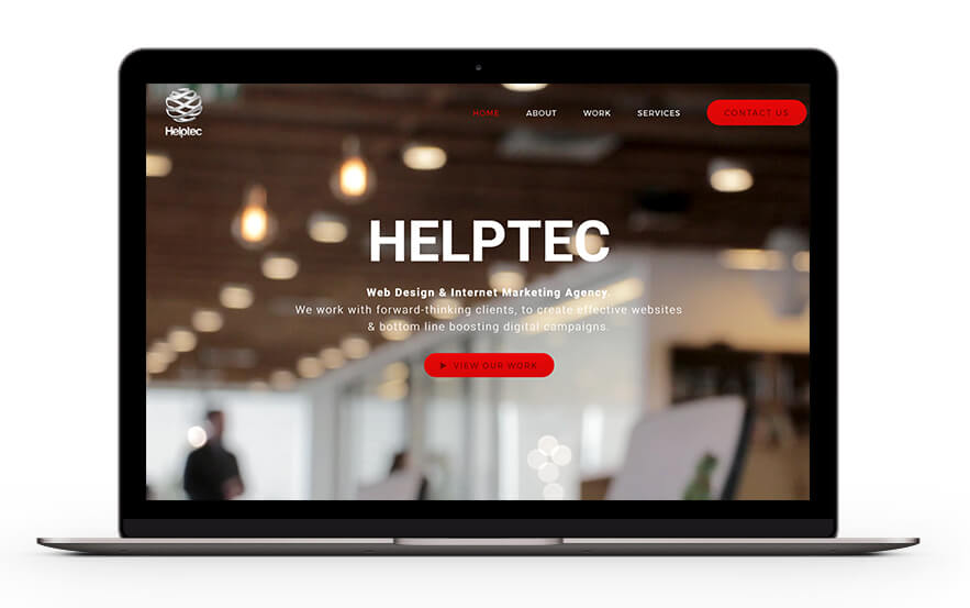 Helptec homepage